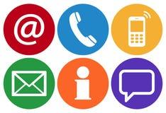 contacte-nos seis ícones ajustados Fotografia de Stock Royalty Free