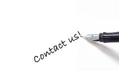Contacteer ons! Royalty-vrije Stock Foto's
