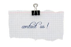Contacteer ons Royalty-vrije Stock Afbeelding