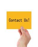 Contacteer ons! Stock Foto