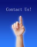 Contacteer ons! Stock Afbeeldingen