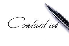 Contacteer ons royalty-vrije stock fotografie