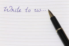 Contacteer ons of aan schrijf ons Royalty-vrije Stock Foto
