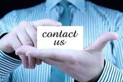 Contacteer ons - adreskaartje Stock Afbeelding