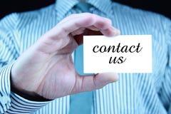Contacteer ons - adreskaartje Royalty-vrije Stock Foto
