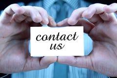 Contacteer ons - adreskaartje Royalty-vrije Stock Foto's
