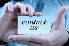 Contacteer ons - adreskaartje Royalty-vrije Stock Afbeeldingen