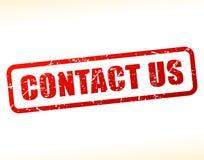 Contacteer ons als buffer opgetreden voor tekst Royalty-vrije Stock Foto's
