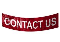 Contacteer ons banner Stock Foto