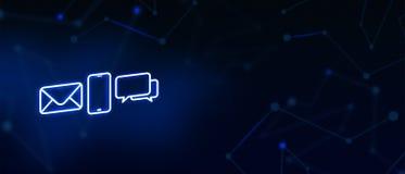 Contacteer ons, contact, e-mailcontact, vraag, bericht, landingspagina, achtergrond, dekkingspagina, pictogram stock afbeeldingen