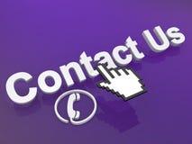 Contacteer ons curseur Royalty-vrije Stock Foto's