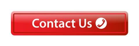 Contacteer ons de knoop van het pictogramweb vector illustratie