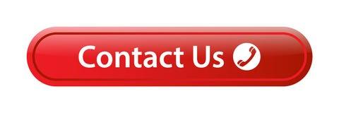 Contacteer ons de knoop van het pictogramweb stock illustratie
