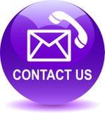Contacteer ons de pictogrammenviooltje van de postvraag vector illustratie