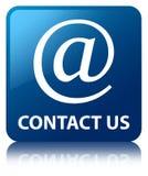 Contacteer ons (e-mailadrespictogram) blauwe vierkante knoop Royalty-vrije Stock Foto's