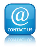 Contacteer ons (e-mailadrespictogram) speciale cyaan blauwe vierkante knoop Stock Foto's