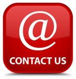 Contacteer ons (e-mailadrespictogram) speciale rode vierkante knoop Stock Foto's