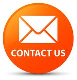 Contacteer ons (e-mailpictogram) oranje ronde knoop Royalty-vrije Stock Afbeelding