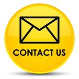 Contacteer ons (e-mailpictogram) speciale gele ronde knoop Stock Afbeeldingen