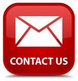 Contacteer ons (e-mailpictogram) speciale rode vierkante knoop Royalty-vrije Stock Afbeelding