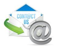 Contacteer ons E - post het ontwerp van de pictogramillustratie Royalty-vrije Stock Afbeelding