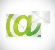 Contacteer ons het ontwerp van de envelopillustratie Stock Afbeeldingen
