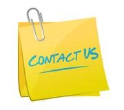 contacteer ons het postconcept van het memorandumteken Stock Afbeelding