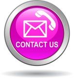 Contacteer ons het roze van de vraagpictogrammen van de knooppost royalty-vrije illustratie