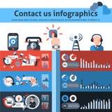 Contacteer ons infographics Stock Afbeelding