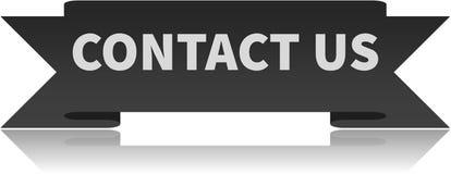 Contacteer ons knoop vector illustratie