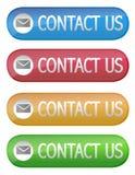 Contacteer ons knoop Stock Afbeeldingen