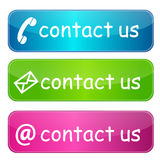Contacteer ons knopen Stock Foto