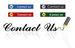 Contacteer ons knopen Royalty-vrije Stock Foto's