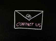 Contacteer ons met e-mail Royalty-vrije Stock Foto