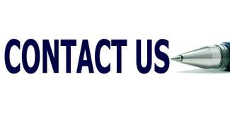 Contacteer ons Nota vector illustratie