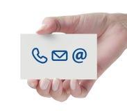 Contacteer ons pictogram Stock Foto's