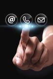 Contacteer ons pictogram Royalty-vrije Stock Afbeelding