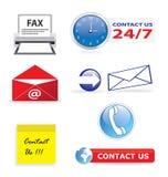 Contacteer ons pictogrammen Royalty-vrije Stock Foto's
