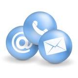 Contacteer ons pictogrammen Royalty-vrije Stock Foto