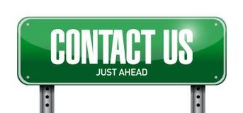 contacteer ons posttekenconcept Royalty-vrije Stock Foto's