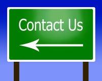 Contacteer ons teken Stock Afbeelding