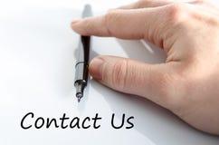 Contacteer ons tekstconcept Stock Foto's