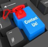 Contacteer ons Telefoon toont Voorzien van een netwerkvraag en Zaken royalty-vrije illustratie