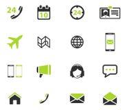 Contacteert eenvoudig pictogrammen Stock Afbeelding