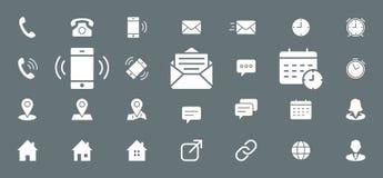Contactenpictogrammen - Vastgesteld Web en Mobile 03 vector illustratie