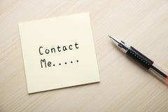Contactez-moi photo stock