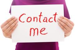 Contactez-moi ! Images libres de droits