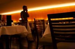 Contactez-moi au restaurant Image stock