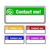 Contactez-moi bouton Photographie stock