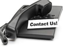 Contactez-nous ! Photographie stock